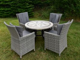 Dalkey 90cm Table with 4 Adare Chairs