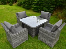 4 Seat Vancouver Set with Square Table