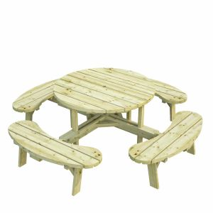 The Kilkenny round heavy duty picnic table set