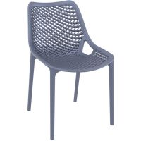 Air Commercial Stacking Chair - Dark Grey