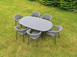 Galaxy 6 Seat Oval Set with Elements Chairs