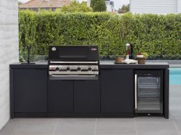 S3000E Series - 4 Burner BBQ With Cabinex Outdoor Kitchen