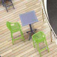 2 Green Air Bar Chairs and Grey Sky Bar Table Set