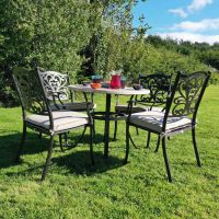 Dalkey 90cm table with 4 Hampshire Bronze Chairs
