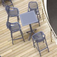 4 Air Bar Chairs and Sky Bar Table Set in Grey