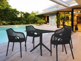 4 Air XL and Sky 80 Table Set in Black
