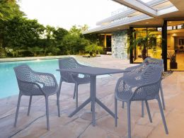 4 Air XL and Sky 80 Table Set in Grey