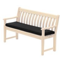Alexander Rose Olefin 4Ft Bench Cushion Charcoal - Cushion Only