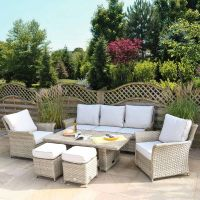 Heritage Tuscan 3 Seat Adjustable Lounge Set