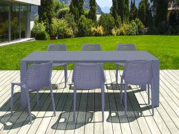 6 Air Chairs and Vegas Medium Set in Grey