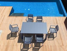 6 Seat Patio Set in Grey