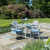 Classic 4 Seat Square Set with Stacking Chairs