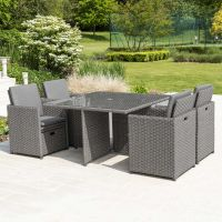 Sofia 4 Seat Cube Set in Grey
