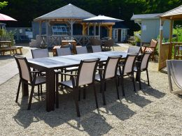 Vegas XL 10 Seat Set With Pacific Chairs  In Brown