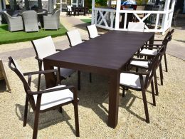 8 Seat Vegas with Pacific Chairs in Brown