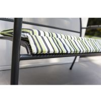 Alexander Rose Portofino Cushion For Bench Green Stripe - Cushion Only
