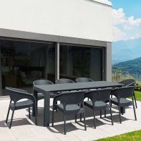 Vegas Panama 8 Seat Garden Furniture Set - Grey