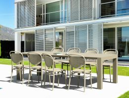 8 Seat Outdoor Set in Taupe
