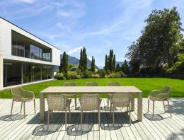 8 seat Taupe Outdoor Dining Set