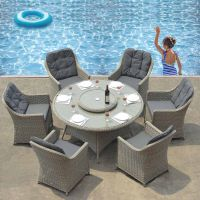 Adelaide 6 Seat Round Garden Furniture Set
