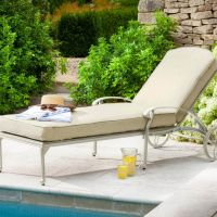 Capri Sunlounger Set with Side Table - Maize