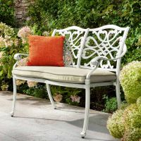 Capri 2 Seat Bench Maize with Wheatgerm Cushion