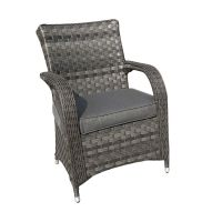 Chicago Rattan Dining Chair in Grey