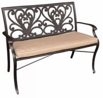Sapphire Bronze 2 Seat Cast Aluminium Bench with Cushion