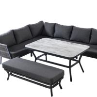 Dubai Rectangular Casual Dining Bench Set