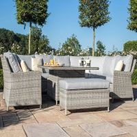 Hamilton U Shaped Sofa Set with Rising Table & Ice Bucket- Complete