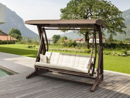 Hawaii Swing in  Brown With Beige Cushions