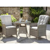 Heritage Bistro Set with Glass Top