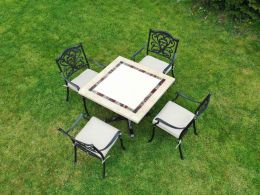 Killiney 4 Seat Square Set with Hampshire Chairs