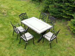 Killiney 6 Seat Rectangular Outdoor Dining Set with Hampshire Chairs