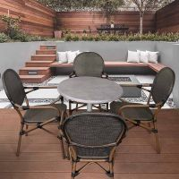 Lyon Carver Chairs City Round Folding 4 Seaters Set
