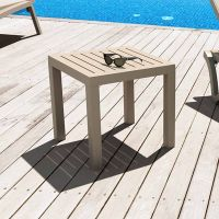 Ocean Taupe Square Side Table