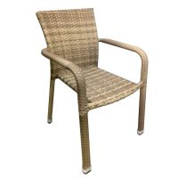 Oliveira Beige Rattan Commercial Chair