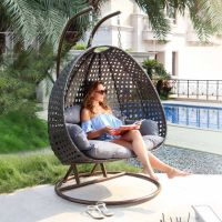 Riviera Grey Double Hanging Swing Chair