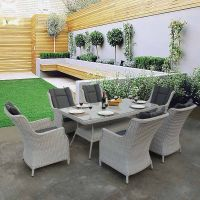 Roma Grey Oblique Table Dining Set
