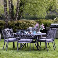 Sapphire Hampshire 6 Seater Round Set in Grey