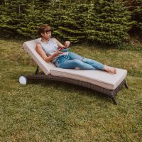 Cairo Sun Lounger with Thick Quick Dry Cushions