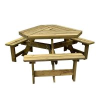 Triangle 6 Seater Picnic Table