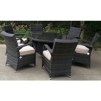 Kells 6 Seat Round Set - Complete (No Parasol Hole in Table)