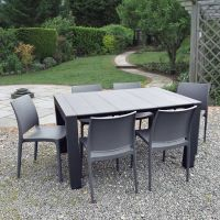 Vegas 6 Seater Extending Table Set with Maya Chairs