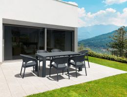 Vegas Panama 6 Seat Garden Furniture Set - Grey