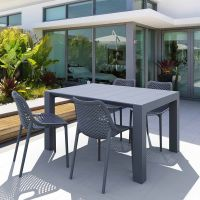 Vegas 4 Seater Table with Air Chairs Set in Grey